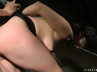 Hot blooded minx and hot man are two sex addicts that make each other happy in steamy hardcore action