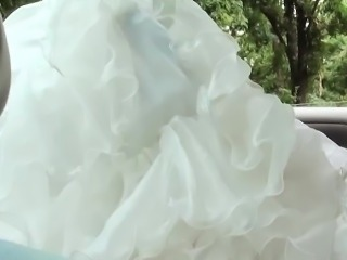 Amirah Adara in wedding dress gives head and gets pounded