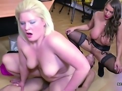 German Couple in Real Porn Casting by Female Agent