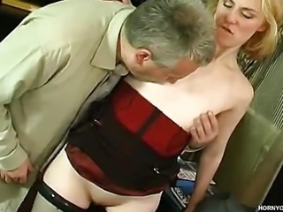 """""""Young beauty Inessa gets nailed in the office"""""""