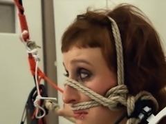 cute BDSM toilet slut fucked anally hard