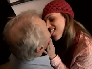 Teen old man girl handjob She even climbs his ladder to give