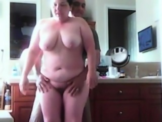 chubby busty housewife spied in the bathroom