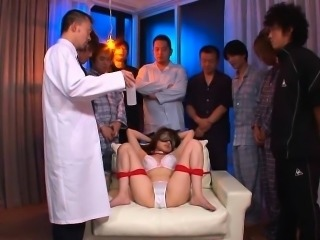 Slutty nurse Honami Isshiki is ready to get bound and