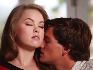 """Sofa sex with gorgeous GF Madison Chandler"""
