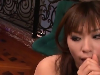 Sweet asian acquires kinky sex toying for her love tunnel
