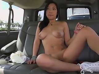 Viviana Mulino is going to suck on that big black cock of his in the car, but...