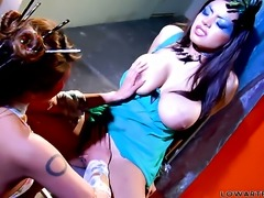 Charmane Star shows off her hot body as she gets her pussy licked by lesbian...