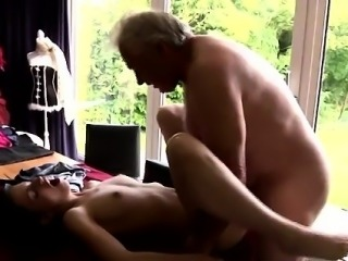Young girl fucked hard by old man and bleeds Horny senior Br