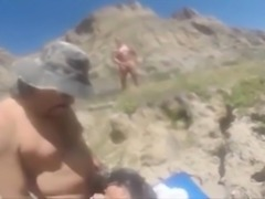 Beach Sex with my BBW wife Rita