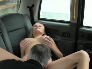 London taxi driver fucked huge boobs blonde passenger