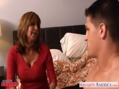 Chesty mom Tara Holiday slurp a big dick free