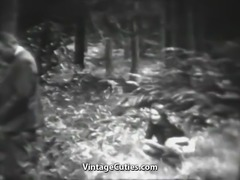 Stunning Bitch Has Fun in the Forest (1930s Vintage)