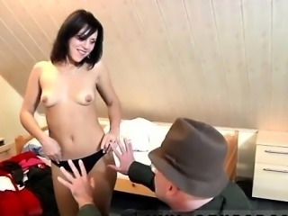 Girl old man blowjob So Will is waking her up to collect his