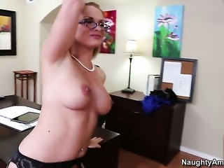 Adorable slut Katja Kassin gets a nice pussy fuck in steamy action with Billy...