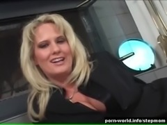 Blonde Sexpot Rides Her Stepson's Big Cock free