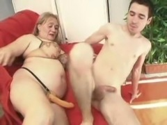 Aunt pegging nephew with strapon free
