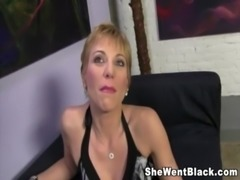 Mature Cougar Gemma More Rough Fucks a Black Cock free