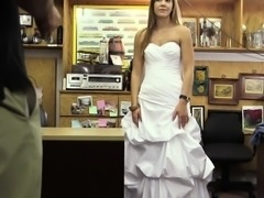 Jilted Bride Partakes In A Revenge Fuck At The Pawnshop