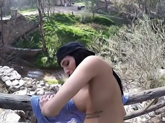 Jaclyn gets smashed in the outdoor