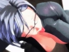 Lascive animated bitch rubs her clit
