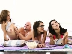 A Group of lovely ladies gets filmed whle having sex