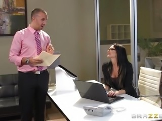 """Sexy secretary Alektra Blue fucking her big dicked boss"""
