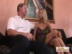 Leggy blonde Payton Leigh's MILF creampie fuck free