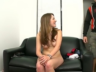 Melissa Moore is an amateur brunette with a large ass. She is doing a casting...