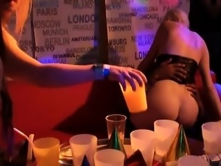 Beautiful girls are sharing their luscious tits during party