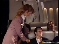 Uniform fucking on a plane free