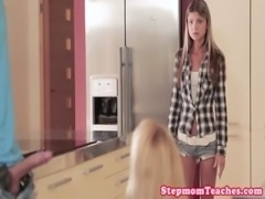 Stunning stepmoms threeway with innocent teen free
