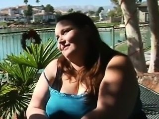 Playful fat girl seduces pretty guy to bang her very well