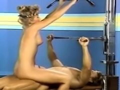 Candie Evans, Francois Papillon in sex in the sport club