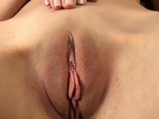 Stuffing pussy beads and sex toy into twat drives babe crazy