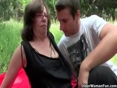 Nothing feels better than grandma's cunt outdoors free