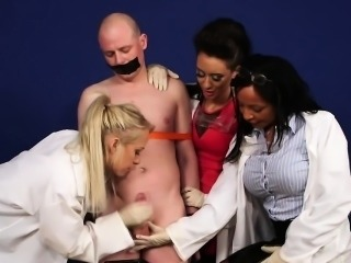 Cfnm nurse blows fool