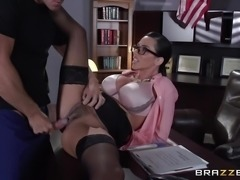 """Prisoner gets his dick wet in warden Ariella Ferrera"""
