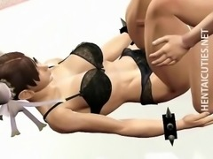 Hottie 3D anime maid fucking dick