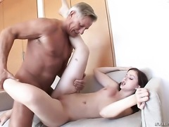 Christoph Clark touches the hottest parts of delicious Abigaile Johnsons body...