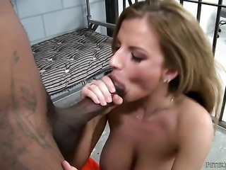 Haley Cummings enjoys dudes beefy stiff dick in her warm mouth