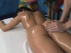 Pretty sexy gets undressed for her sexual massage