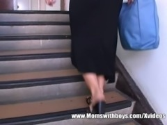 Redhead Stepmom Caught Her Stepson Jerking free