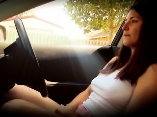 Masturbation and orgasm in my car