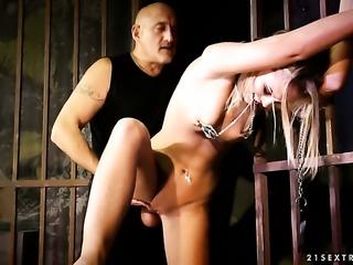 Blonde Vanda Lust having sensual sex with horny guy