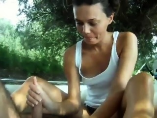 Serbian chick Irena fucked on a boat