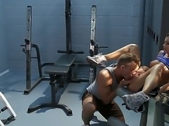 See the sweet babe India Summer in the gym as she is sucking off a guy. She...