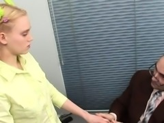 Sweetheart is teacher\'s cock with zealous blowjob