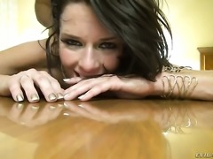 Veronica Avluv sucking like it aint no thing in blowjob action with Manuel...