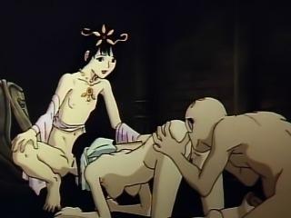 Princess anime threesome hot fucking
